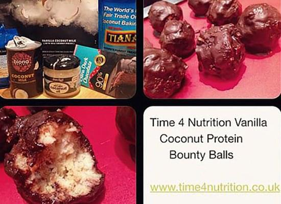 test Time 4 Vanilla Coconut Bounty Balls