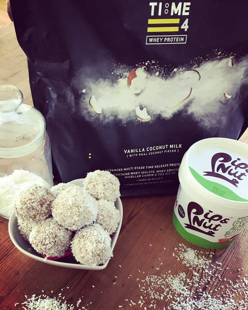test Time 4 Vanilla Coconut Protein Power Balls