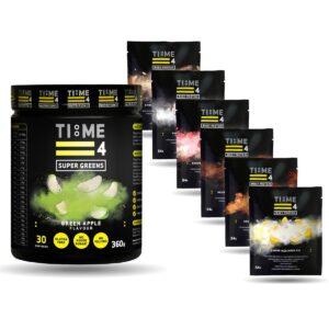 TIME 4 NUTRITION Super Greens + 6 Free whey sachets