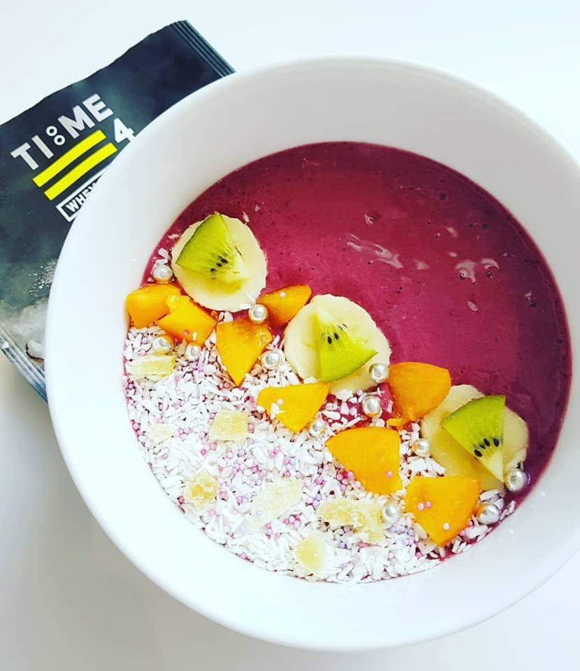 test Time 4 Cherry Berry Protein Smoothie Bowl