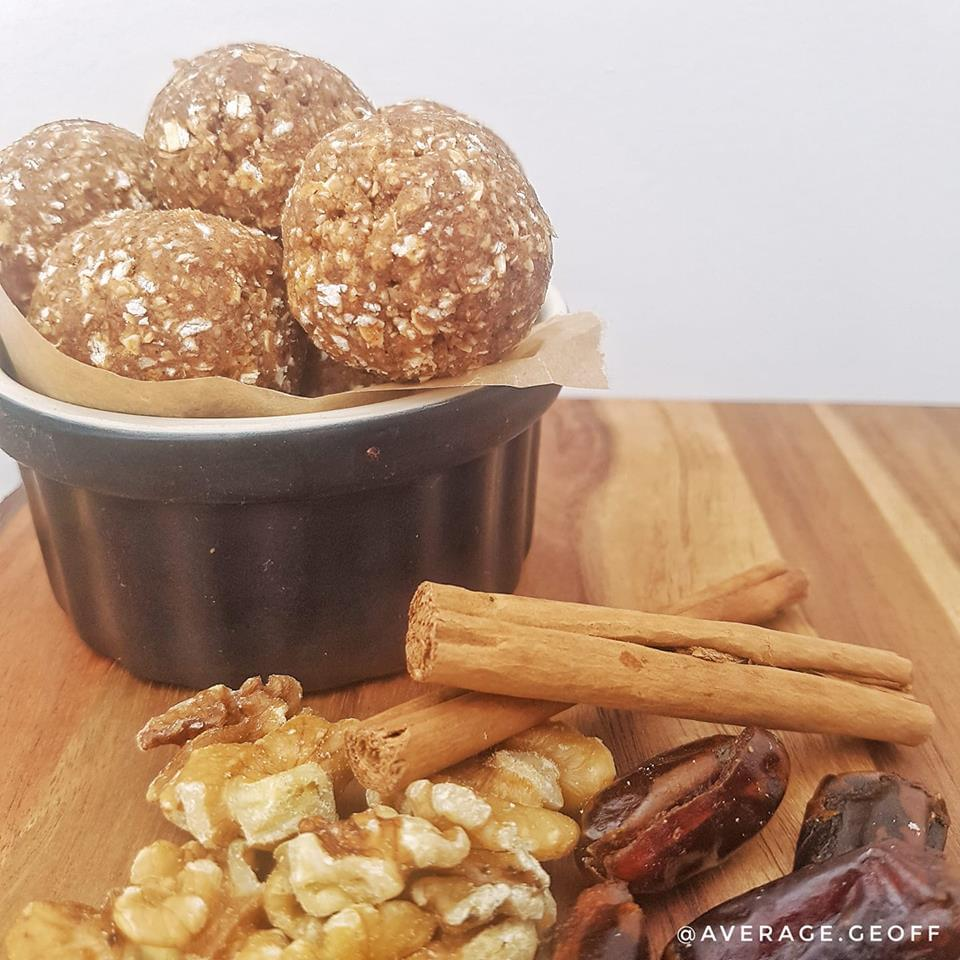 test Time 4 Sticky toffee gingerbread protein balls
