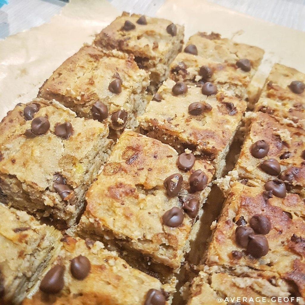 test Time 4 Choc Chip Peanut Butter Protein Blondie