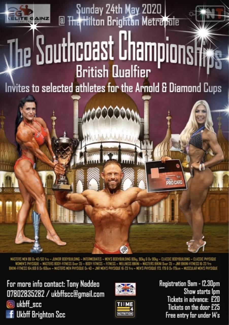 Time 4 Nutrition are proud to Sponsor The UKBFF South Coast Championships 2020