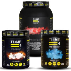 Time 4 Support Stack, Preworkout, intraworkout, recovery shake
