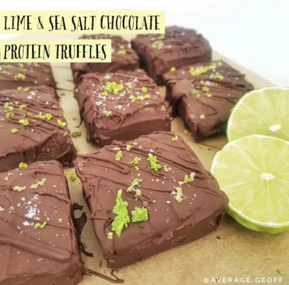 test Time 4 Lime & Sea Salt Chocolate Protein Truffles
