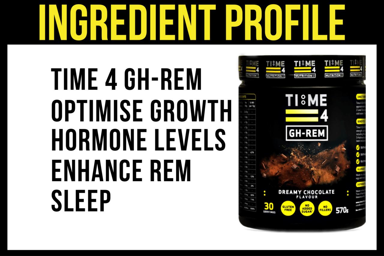 test TIME 4 GH-REM Ingredient Profile By Brian Batcheldor BSC