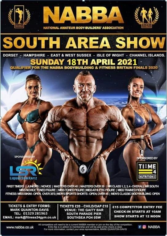 TIME 4 NUTRITION ARE PROUD TO SPONSOR THE NABBA SOUTH BODYBUILDING COMPETITION 2021