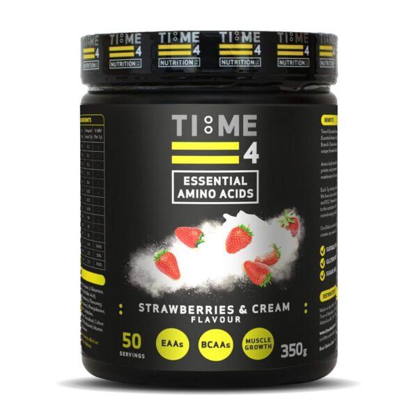 Time 4 EAAs, Essential Amino Acids, Strawberries & Cream