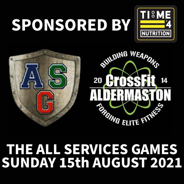 test TIME 4 NUTRITION ARE PROUD TO SPONSOR THE ALL SERVICES GAMES 15TH AUGUST 2021