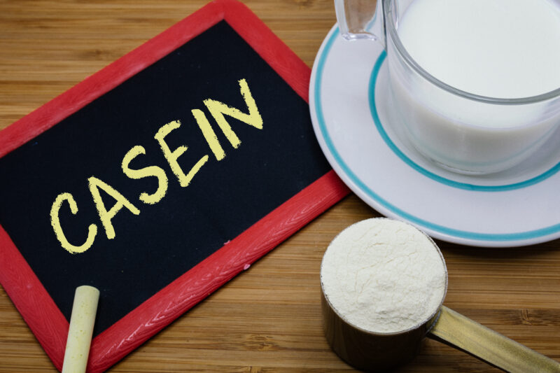 Think You Know About-Casein-Written On Chalkboard,