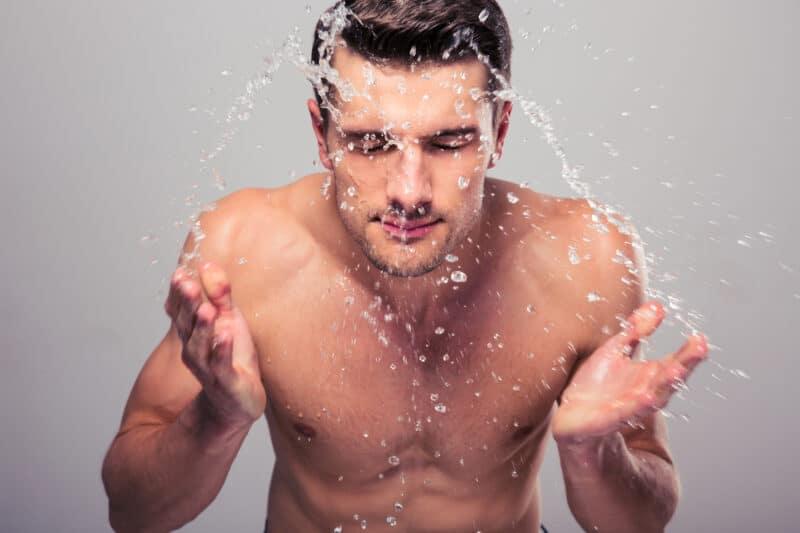 Collagen+-Think Again-Man Spraying Water