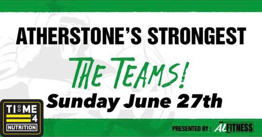 test TIME 4 NUTRITION ARE PROUD TO SPONSOR ATHERSTONES STRONGEST 27TH JUNE 2021