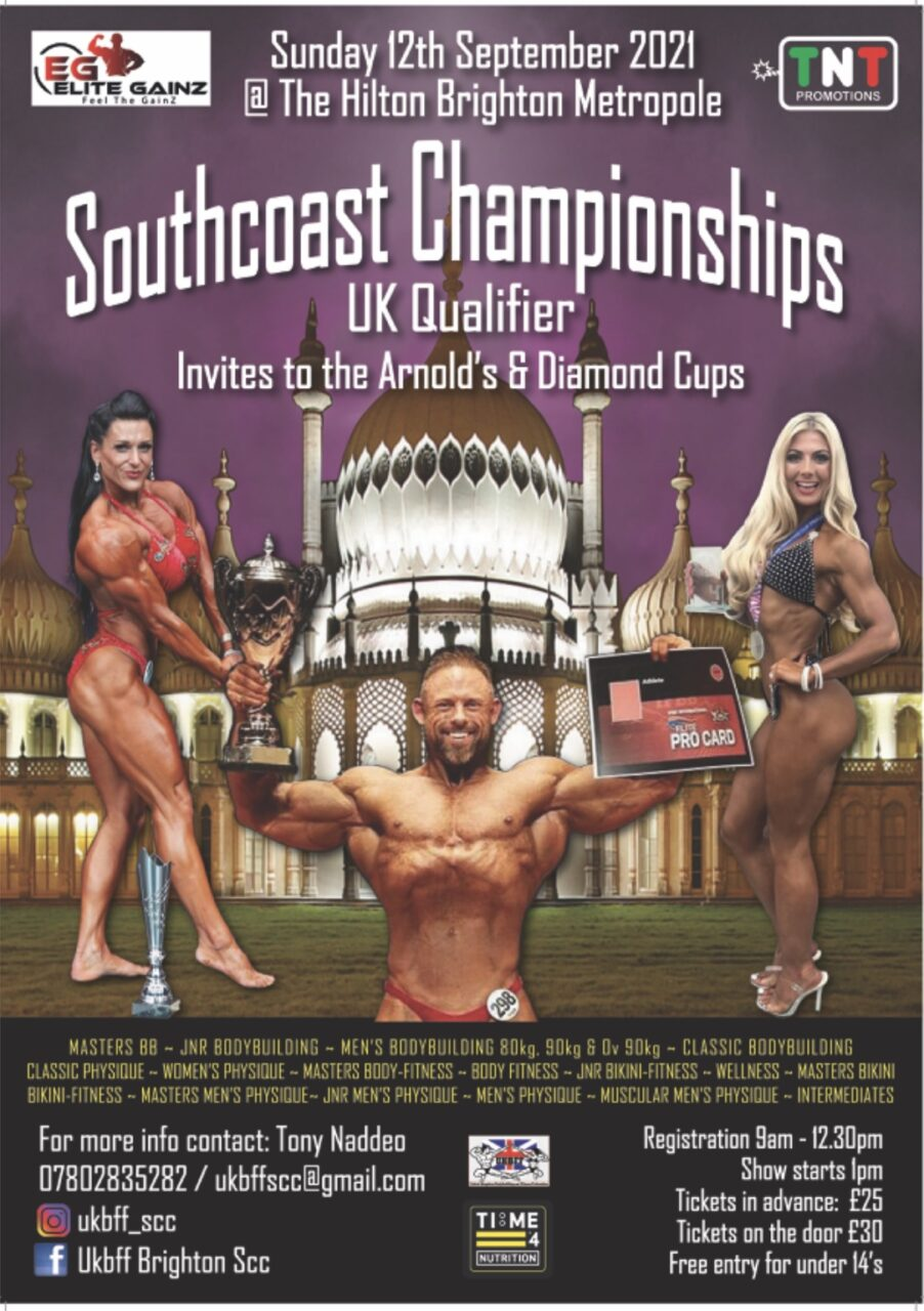 test TIME 4 NUTRITION ARE PROUD TO SPONSOR UKBFF SOUTH COAST CHAMPIONSHIPS