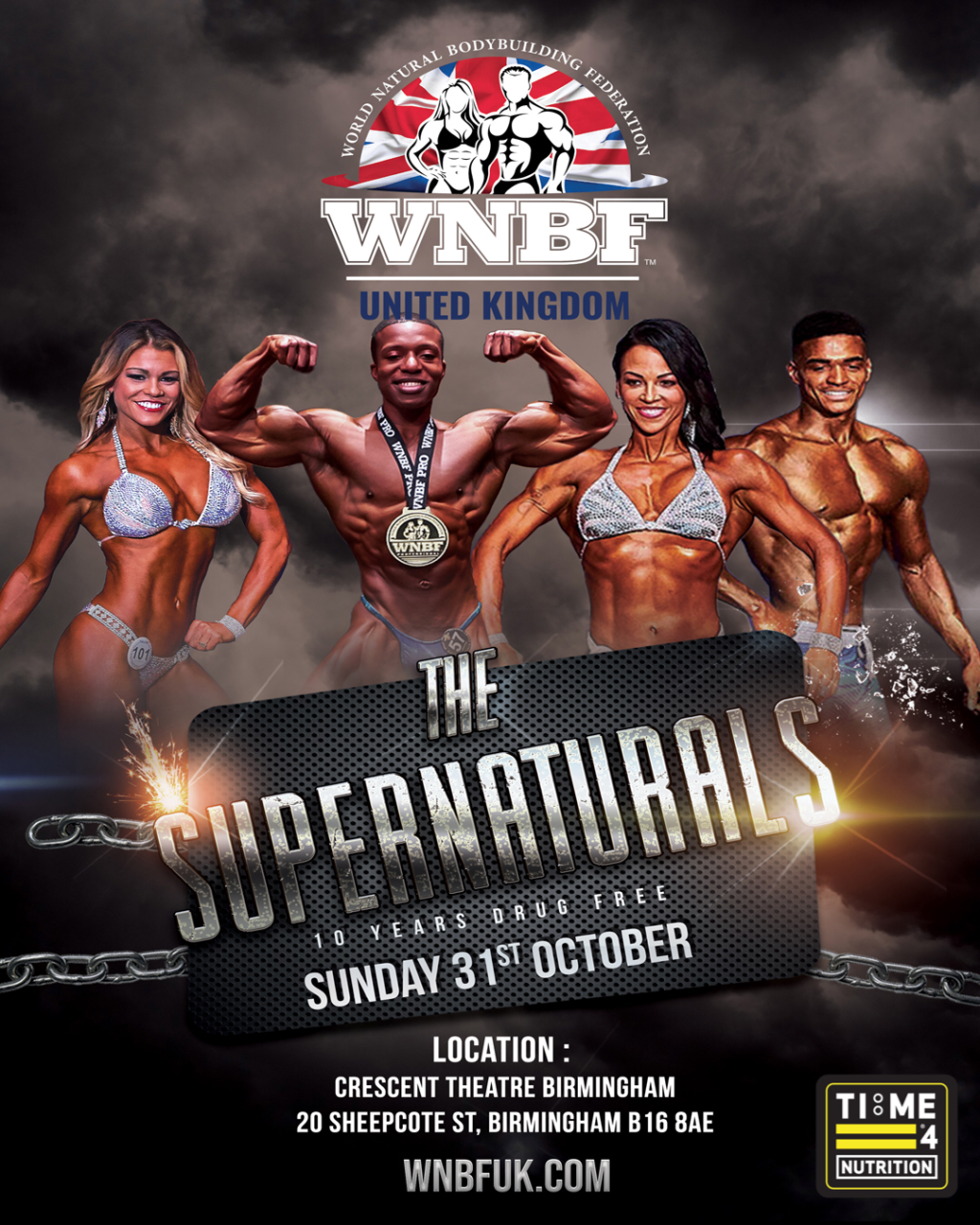 test TIME 4 NUTRITION ARE PROUD TO SPONSOR THE WNBF THE SUPERNATURALS OCTOBER 31ST 2021